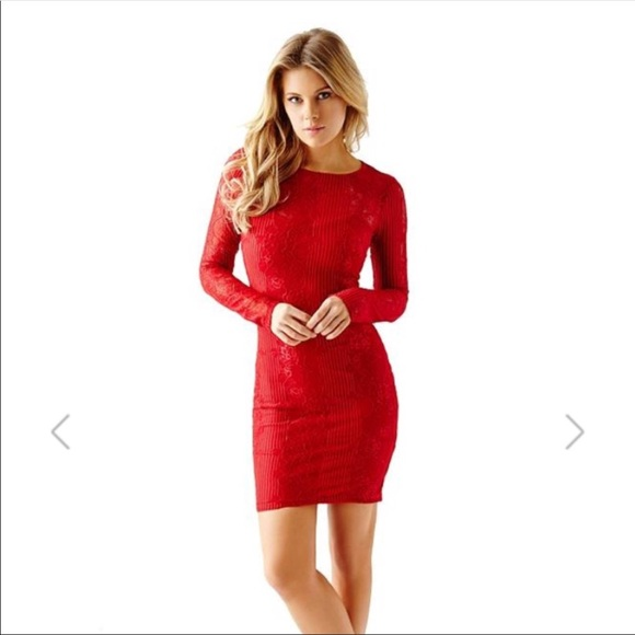 245c1c6ee3 NWT Guess red lace dress Valentines Day